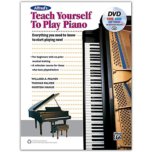 Alfred Alfred's Teach Yourself to Play Piano - Book, DVD & Online Audio, Video & Software-thumbnail