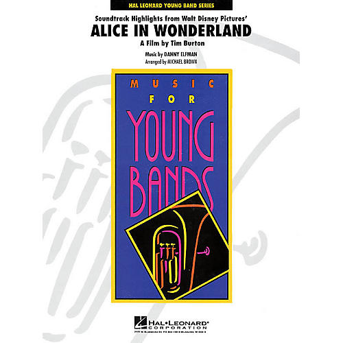 Hal Leonard Alice in Wonderland Soundtrack Highlights - Young Concert Band Level 3 by Michael Brown-thumbnail