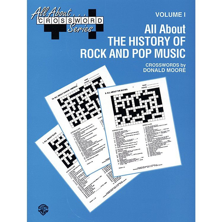 Alfred All About . . . Crossword Series Volume I All About the History of Rock and Pop Music Book
