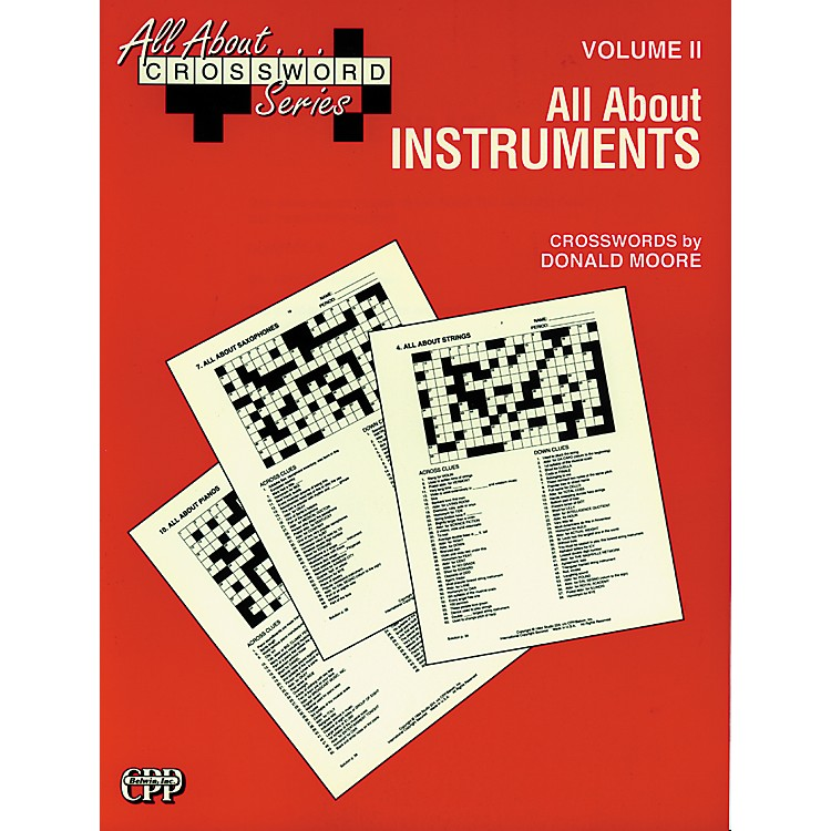 Alfred All About ... Crossword Series, Vol. II All About Instruments Music Game Book