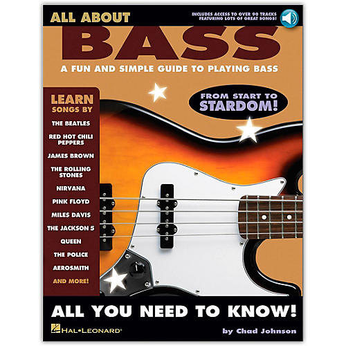 Hal Leonard All About Bass (Fun & Simple Guide To Playing Bass From Start To Stardom) (Book/Online Audio)-thumbnail