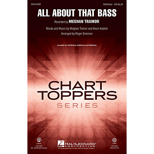 Hal Leonard All About That Bass SOP. I/II / ALTO / SOLO by Meghan Trainor arranged by Roger Emerson-thumbnail