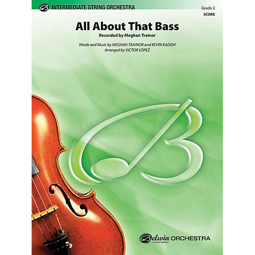 Alfred All About That Bass String Orchestra Grade 2-thumbnail
