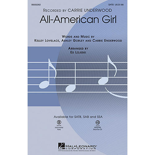Hal Leonard All-American Girl SATB by Carrie Underwood arranged by Ed Lojeski-thumbnail