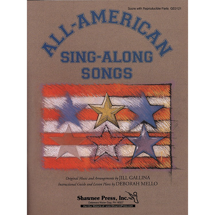 Shawnee Press All American Sing A Long Songs Score/Reproducible Parts & Cd