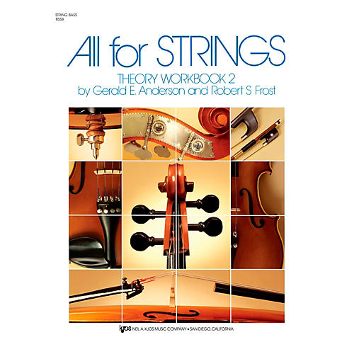 KJOS All For Strings 2 Theory Workbook String Bass-thumbnail