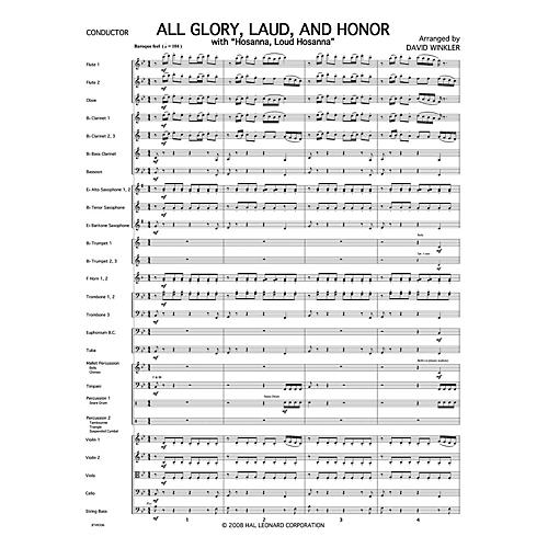 PraiseSong All Glory, Laud, and Honor (with Hosanna, Loud Hosanna) Orchestra arranged by David Winkler-thumbnail