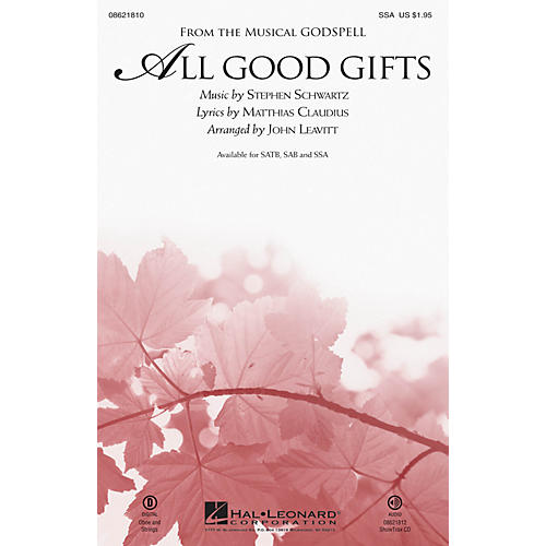 Hal Leonard All Good Gifts (from Godspell) SSA arranged by John Leavitt-thumbnail