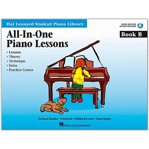 Hal Leonard All-In-One Piano Lessons Book B Book/Online Audio Package-thumbnail