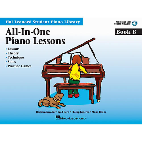 Hal Leonard All-In-One Piano Lessons Book B Educational Piano ¯ International Edition Series Softcover Audio Online-thumbnail