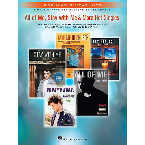 Hal Leonard All Of Me, Stay With Me & More Hot Singles Easy Guitar Tab Songbook