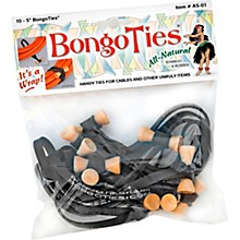 BongoTies All-Purpose Tie Wraps Bamboo and Black Rubber