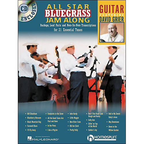 Homespun All Star Bluegrass Jam-Along for Guitar Book/CD