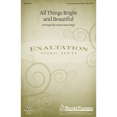Shawnee Press All Things Bright and Beautiful Unison/2-Part Treble arranged by Anna Laura Page-thumbnail