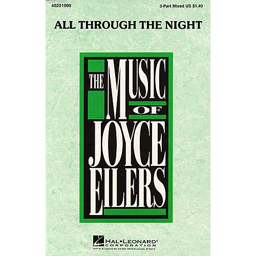 Hal Leonard All Through the Night (3-Part Mixed) 3-Part Mixed arranged by Joyce Eilers