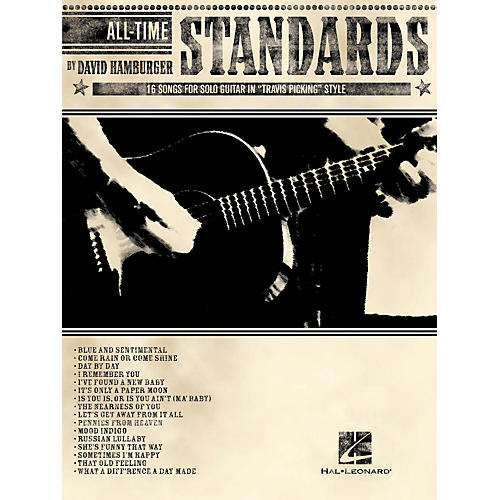 Warner Chappell Music All-Time Standards - 16 Songs for Solo Guitar in Travis Picking Style Tab (Book)-thumbnail