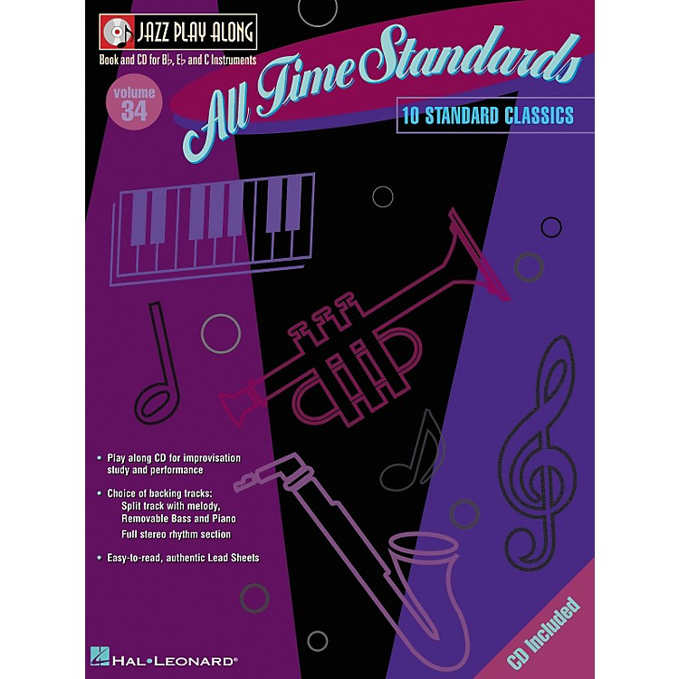 Hal Leonard All Time Standards--Jazz Play Along Volume 34 Book with CD
