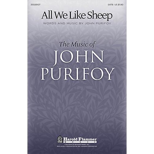 Shawnee Press All We Like Sheep SATB composed by John Purifoy-thumbnail