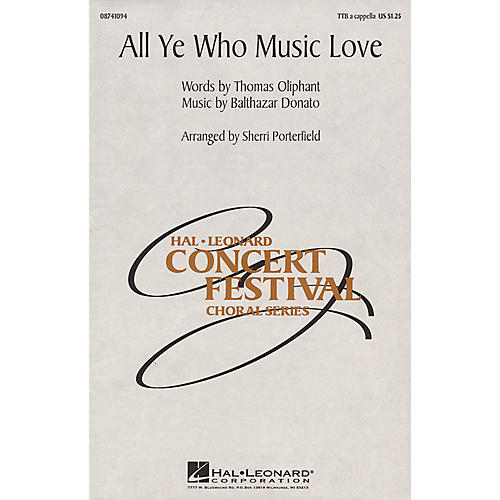 Hal Leonard All Ye Who Music Love TTB A Cappella arranged by Sherri Porterfield-thumbnail