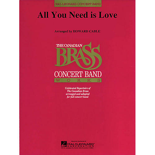 Hal Leonard All You Need Is Love (Canadian Brass plays Lennon and McCartney) Concert Band Level 4-5-thumbnail