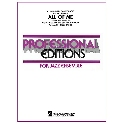 Hal Leonard All of Me (Original Edition) Jazz Band Level 5 by Count Basie Arranged by Billy Byers
