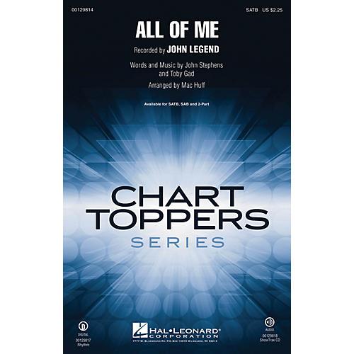 Hal Leonard All of Me SAB by John Legend Arranged by Mac Huff-thumbnail