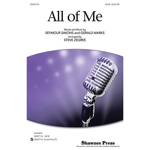 Shawnee Press All of Me SATB arranged by Steve Zegree-thumbnail