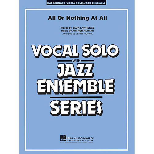 Hal Leonard All or Nothing at All (Key: Gmi) Jazz Band Level 4 Composed by Jack Lawrence-thumbnail