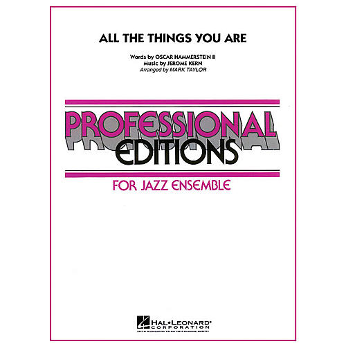 Hal Leonard All the Things You Are Jazz Band Level 5 Arranged by Mark Taylor-thumbnail