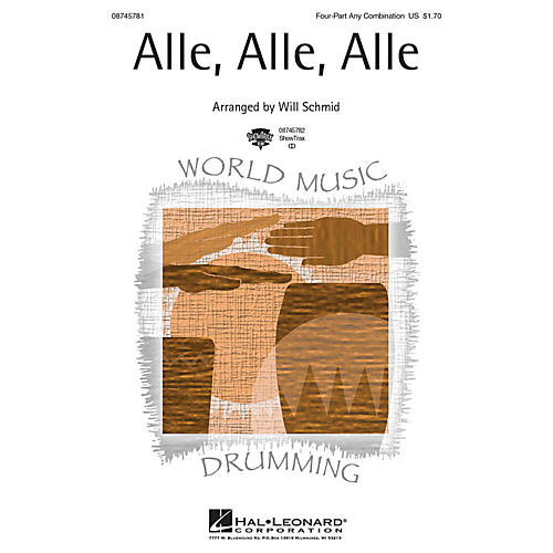 Hal Leonard Alle, Alle, Alle 4 Part Any Combination arranged by Will Schmid-thumbnail