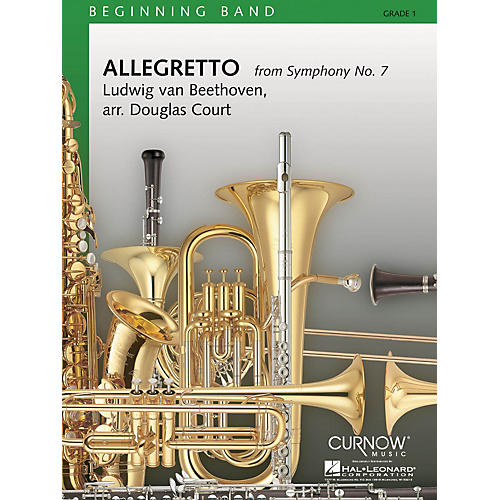 Hal Leonard Allegretto from Symphony No. 7 (Grade 1 - Score and Parts) Concert Band Level 1 Arranged by Douglas Court