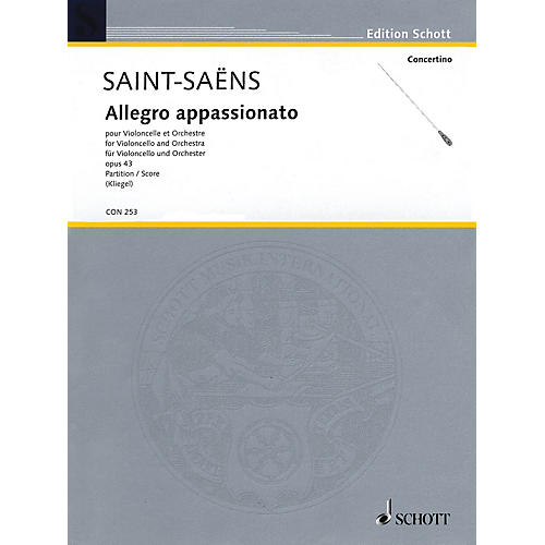 Schott Allegro appassionato (Cello and Orchestra Full Score) String Series Softcover by Camille Saint-Saëns-thumbnail