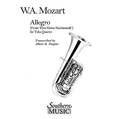 Southern Allegro (from Eine Kleine Nachtmusik) (2 Euphoniums/2 Tubas) Southern Music Series Arranged by Al Peoples-thumbnail