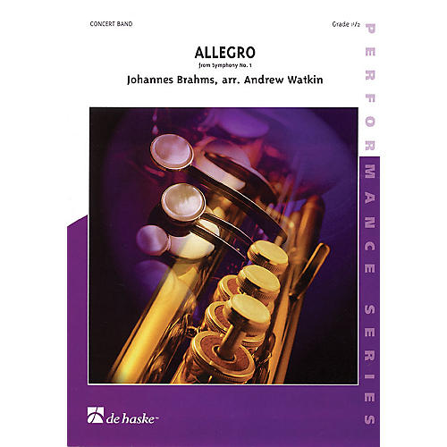 De Haske Music Allegro from Symphony #1 (Score and Parts) Concert Band Level 1.5 Composed by Johannes Brahms