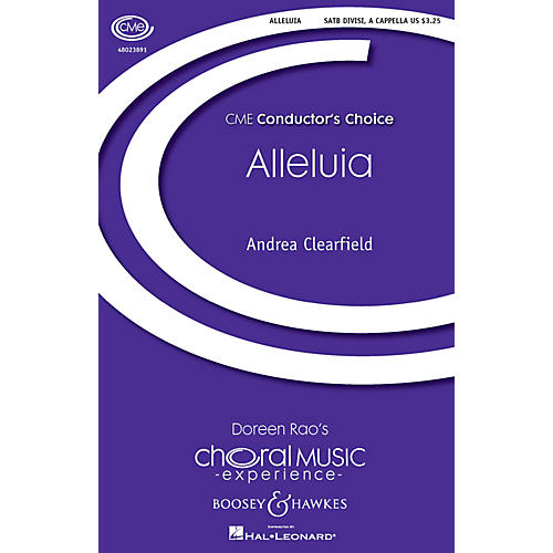 Boosey and Hawkes Alleluia (CME Conductor's Choice) SATB a cappella composed by Andrea Clearfield-thumbnail