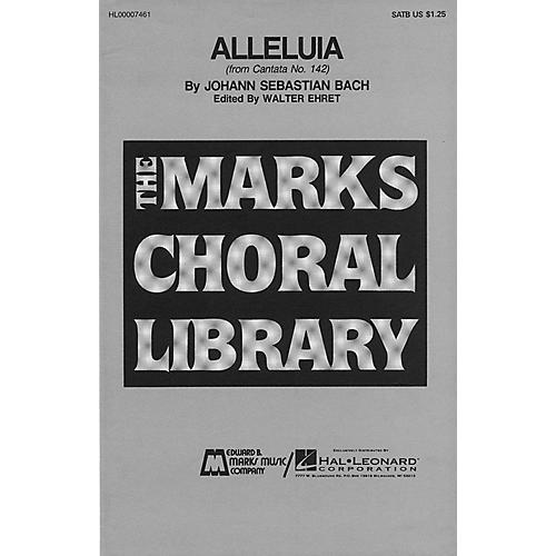 Edward B. Marks Music Company Alleluia SA Composed by Johann Sebastian Bach-thumbnail