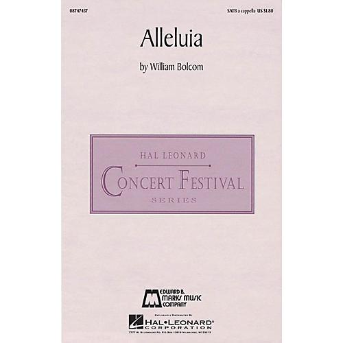 Edward B. Marks Music Company Alleluia SATB a cappella composed by William Bolcom