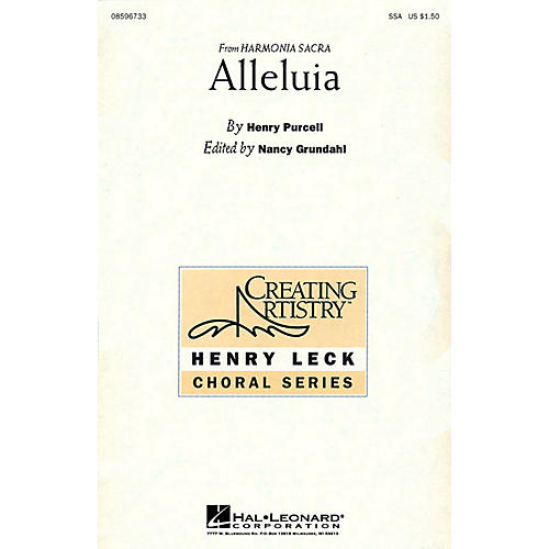 Hal Leonard Alleluia (SSA) SSA arranged by Nancy Grundahl-thumbnail