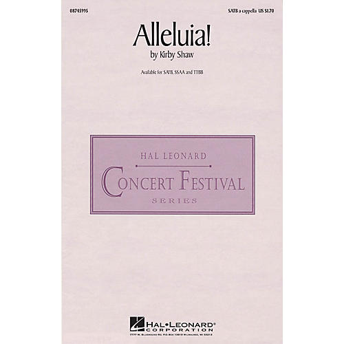 Hal Leonard Alleluia! TTBB A Cappella Composed by Kirby Shaw-thumbnail