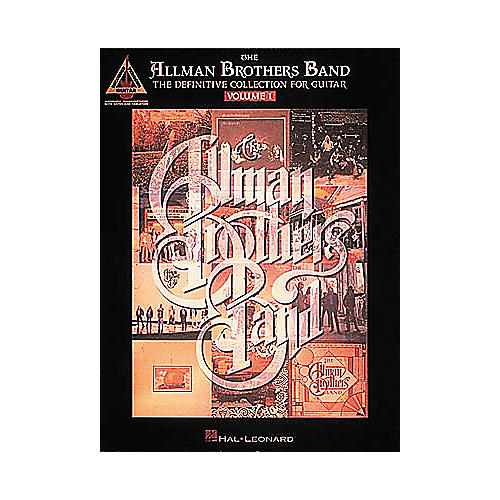 Hal Leonard Allman Bros Definitive Collection Volume 1 Guitar Tab Songbook-thumbnail