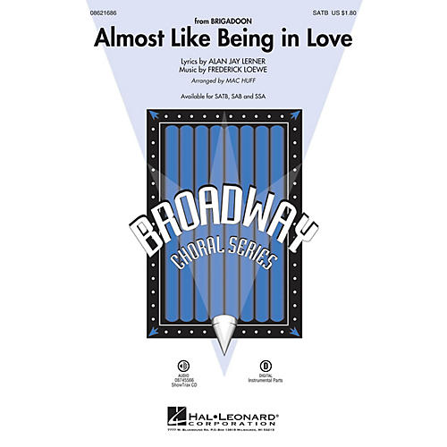 Hal Leonard Almost Like Being in Love SSA Arranged by Mac Huff-thumbnail