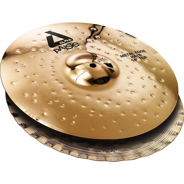 Paiste Alpha Brilliant Metal Edge Hi-Hat Pair 14 inch