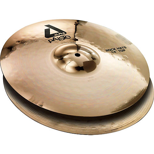 Paiste Alpha Rock Hi-Hat Pair with Brilliant Finish 14 in.