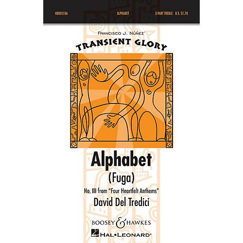 Boosey and Hawkes Alphabet (Fuga) SSA A Cappella composed by David Del Tredici-thumbnail