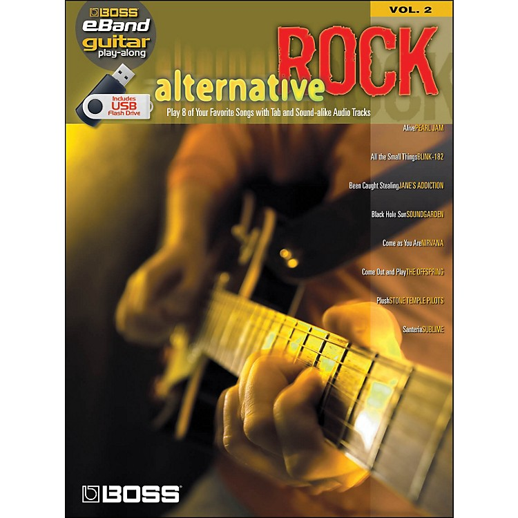 Hal Leonard Alternative Rock Guitar Play -Along Volume 2 (Boss eBand custom Book with USB Stick)