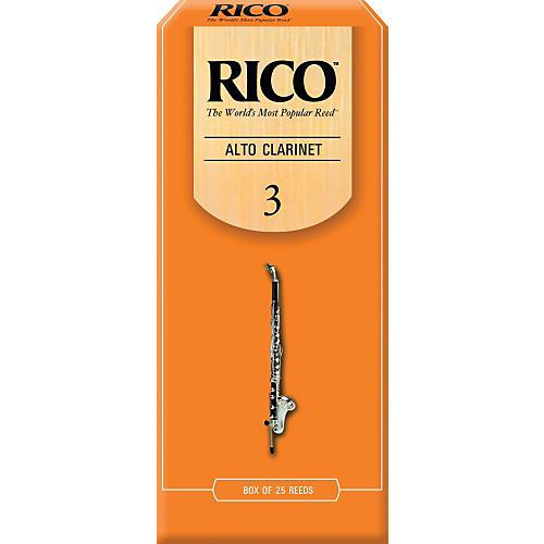 Rico Alto Clarinet Reeds, Box of 25 Strength 3