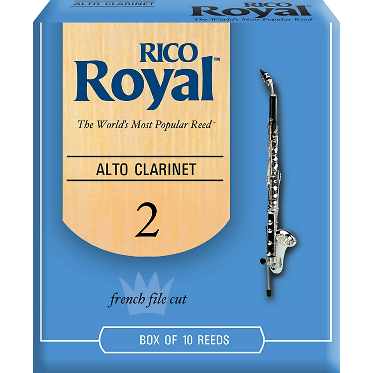 Rico Royal Alto Clarinet Reeds Strength 2 Box of 10