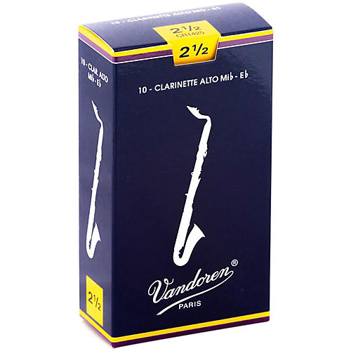 Vandoren Alto Clarinet Reeds Strength 2.5 Box of 10