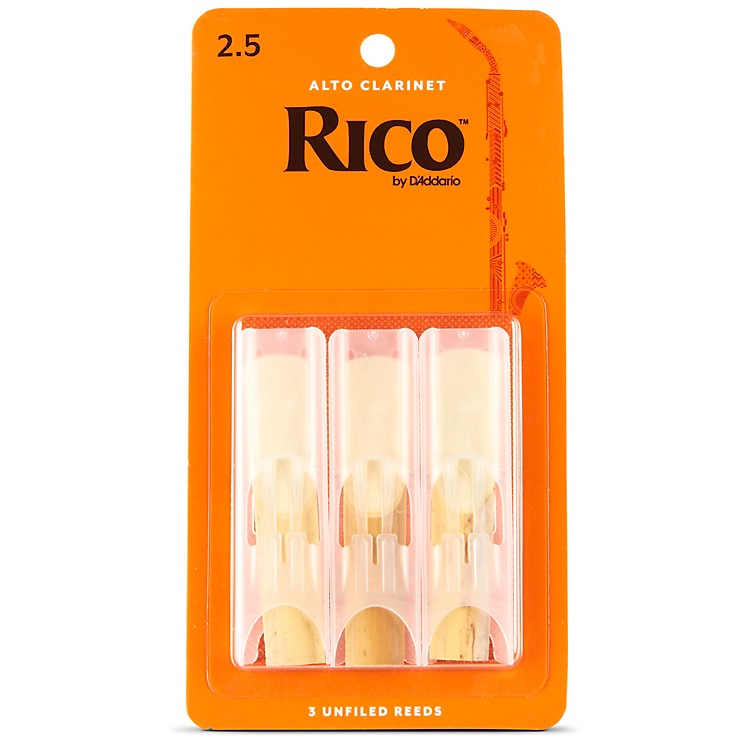 Rico Alto Clarinet Reeds Strength 2.5 Box of 3