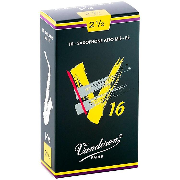 VandorenAlto Sax V16 ReedsStrength 2.5Box of 10